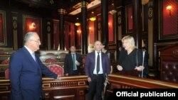 Ali Məhkəmənin sədri Ramiz Rzyaev və Avropa Şurası İnsan Haqları komissarı Dunya Miyatoviç