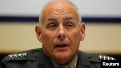 El general John Kelly prestó testimonio ante el Comité de Servicios Armados del Senado en Washington.