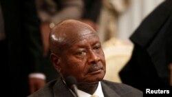 FILE - Uganda's President Yoweri Museveni.