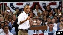 Predsednik Barak Obama govori na skupu u gradiću Kenjon Fols, u Minesoti