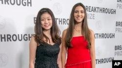 دیانا سی و آنتونلا مسینی برندگان رقابت علمی جوانان
