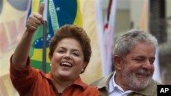 Dosadašnji predsjednik Luiz Inacio Lula da Silva i Dilma Rousseff