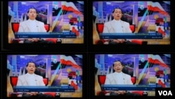 """泰国晚间6点的""""新闻联播""""时段,所有的电视台都播放统一的军政府新闻"""