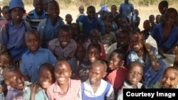 Zimkids children at the Pumula center, Bulawayo.