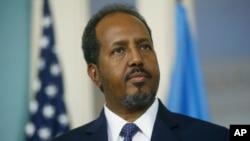 FILE - Somalia President Hassan Sheikh Mohamud.