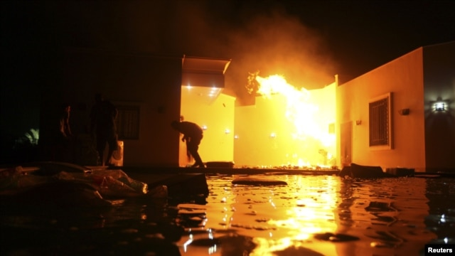Trụ sở sứ quán Mỹ ở Benghazi bị tấn công vào ngày 11 tháng 9, 2012