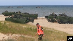 NATO askarlari Boltiq dengizi mintaqasida