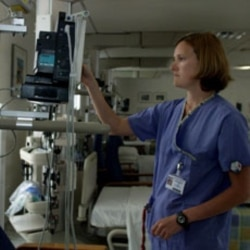 A nurse at the Heart Hospital in London