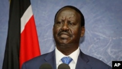 Former Kenyan Prime Minister Raila Oringa (file photo)