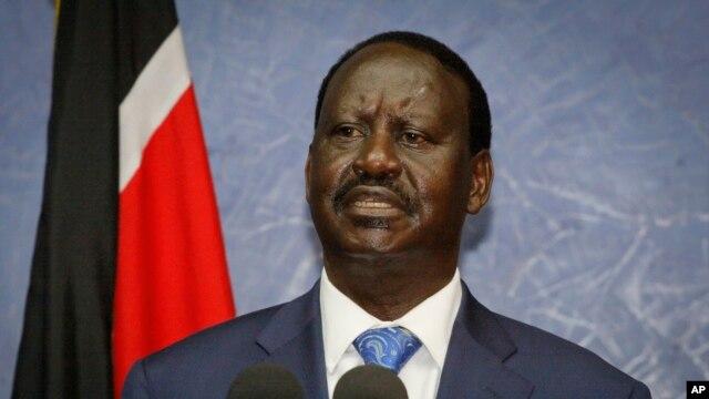 Former Kenyan Prime Minister Raila Oringa (file photo)