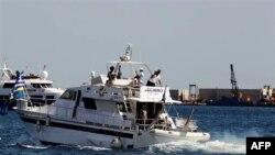 Գազայի ծովային շրջափակումը ճեղքելու փորձեր կատարող նավատորմի նավերից մեկը