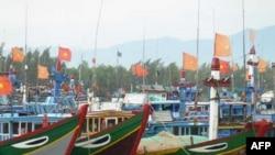 Tàu đánh cá của ngư dân Việt Nam ở Quảng Ngãi