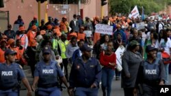 Une marche pacifique contre la xénophobie a eu lieu à Durban, Afrique du Sud, jeudi 16 avril 2015.