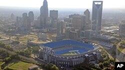 El discurso de aceptación de Barack Obama ya no será en el enorme estadio Bank of America de Charlotte.