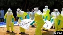Wahudumi wa afya wakiendelea kukabiliana na Ebola DRC.