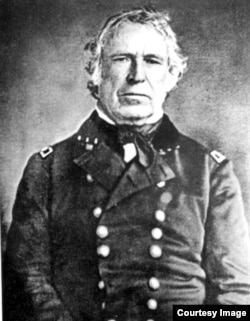Portrait of General Zachary Taylor. Taylor led American troops against Mexican forces.