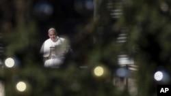 Папа Франциск на площади Святого Петра. Ватикан. 1 декабря 2019 г.