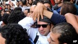 Ahmed Maher pemimpin protes di Mesir melawan Presiden Hosni Mubarak dinyatakan bersalah bersama dua aktivis lainnya.