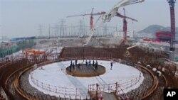 中国浙江秦山核电站二期扩建工程(资料照片)