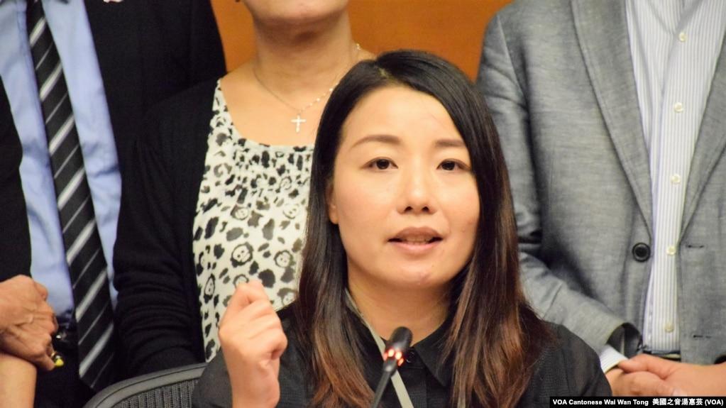 被法庭取消立法會議員資格的劉小麗(攝影:美國之音湯惠芸)