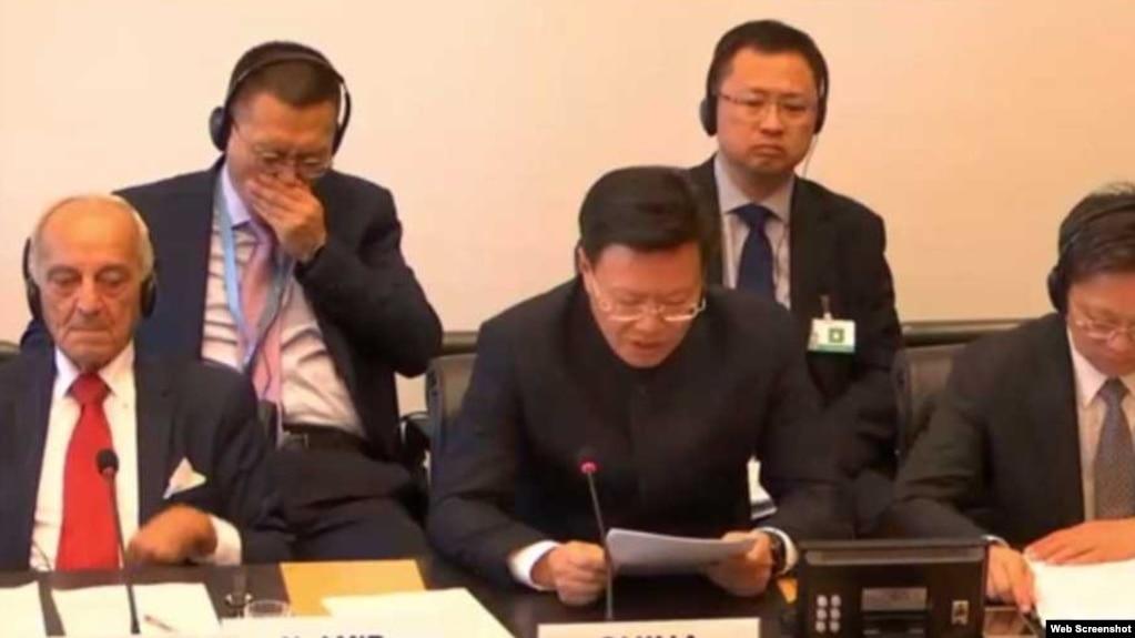 中國代表團團長於建華