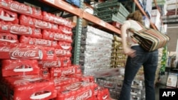 러시아의 코카콜라 판매 매장. (자료사진)