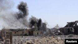 Serangan udara Saudi terhadap kota Saada, di Yaman 2 Juni lalu (foto: dok).
