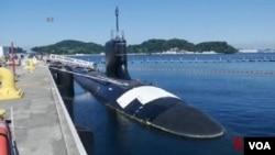 美國維吉尼亞級潛艇 (視頻截圖)