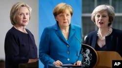 Hillari Klinton, Angela Merkel, Tereza Mey