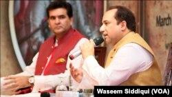 راحت فتح علی خان اور ان کے منیجر سلمان احمد