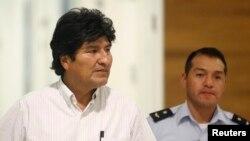 Bolivijski predsednik Evo Morales na bečkom aerodromu Švehat, 3. jul 2013.