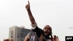 Антиправительственные демонстрации в Каире. Площадь Тахрир, февраль 2012 г.