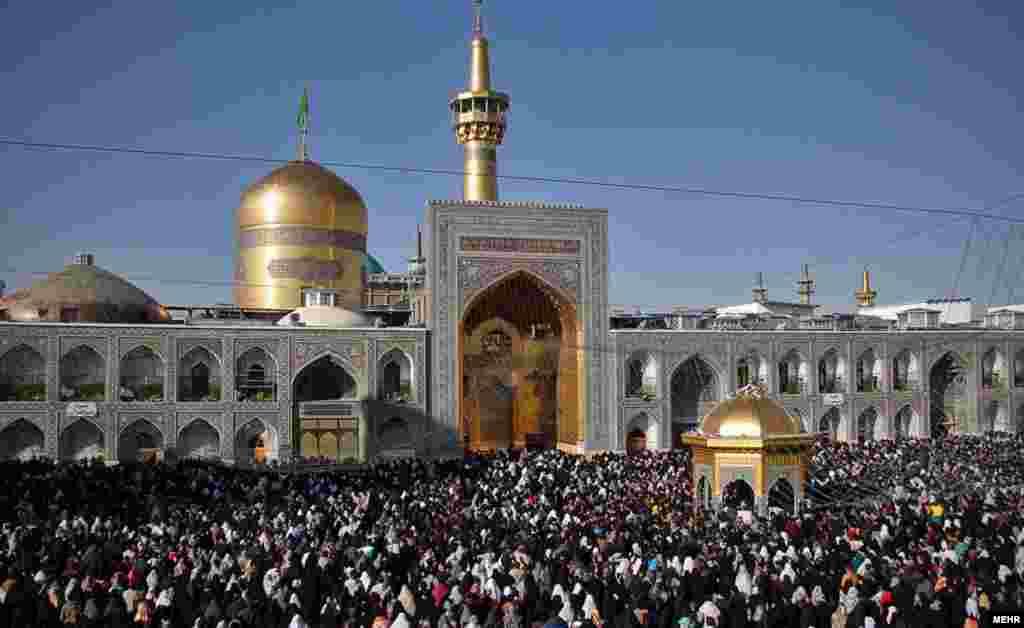 تحویل سال در حرم امام رضا در مشهد