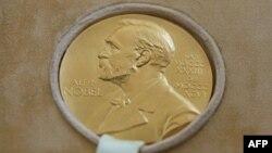 Une médaille portant l'effigie d'Alfred Nobel