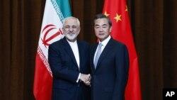 وزیران خارجۀ چین و ایران