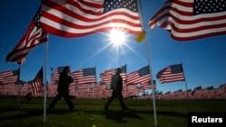 美国伊利诺伊州民众纪念退伍军人节