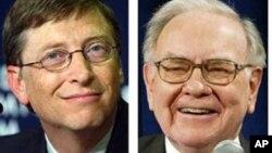 Konglomerat AS, Bill Gates dan Warren Buffet termasuk dalam kelompok milyuner yang mendukung kenaikan pajak bagi orang kaya (foto: dok).