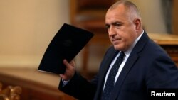 The resignation of Prime Minister Boiko Borisov's government was approved by Bulgaria's parliament in Sofia, Nov. 16, 2016.