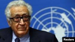 El mediador de la ONU y la Liga Árabe, Lakhdar Brahimi.