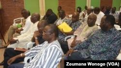 Les ministres de Blaise Compaoré, à Ouagadougou, Burkina, le 27 avril 2017. (VOA/Zoumana Wonogo)