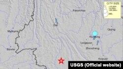 Lokasi Gempa di Chinan (Kredit: USGS)