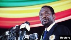 Dioncounda Traoré, le jour de son investiture (12 avril 2012)