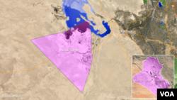 Letak wilayah Ain al-Tamer, Irak.