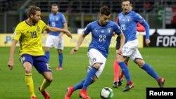 Les Italiens n'ont pas été qualifiés pour le Mondial 2018 en perdant contre les Suédois, à Milan, le 13 novembre 2017.