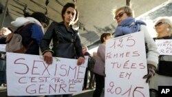 اعتراض زنان در فرانسه به آزار خیابانی (عکس از آرشیف)