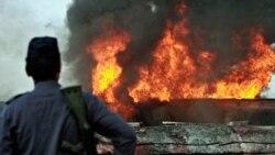 نفتکش های ناتو در شمال پاکستان به آتش کشیده شدند