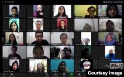 Selama pandemi virus corona, banyak kegiatan Polyglot Indonesia beralih secara virtual. (courtesy: Polyglot Indonesia).