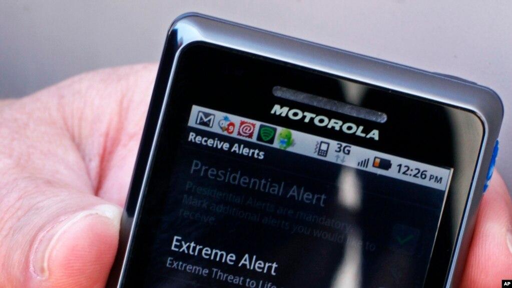 Los teléfonos celulares en EE.UU. sonarán simultáneamente el miércoles, 3 de octubre de 2018, durante una prueba del sistema de emergencia presidencial.
