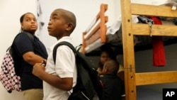 Anak-anak tunawisma di sebuah tempat penampungan di Miami, Florida. (Foto: Dok)