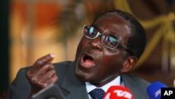 津巴布韦总统穆加贝。